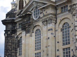 old and new stones at Dresden\'s Frauenkirche