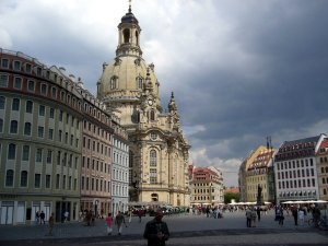 The Church of Our Lady, or Frauenkirche, in Dresden
