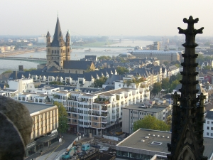 Cologne and the river Rhine
