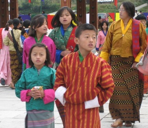 The gho and the kira - traditional dress in Bhutan