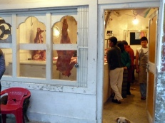 Meat shop in Thimphu, Bhutan