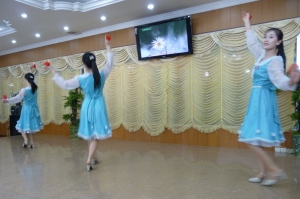 The dinner show at the Pyongyang Restaurant