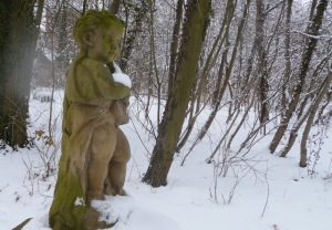 statue in the forest